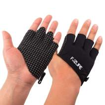 FJZLIFE Workout| Fitness Gloves for Cross Training, Weightlifting, Biking, Bodybuilding, Yoga, Pull-Ups and Fitness - Enhanced Silicone Grip Palm - Improve Your Fitness Without Hand Rips