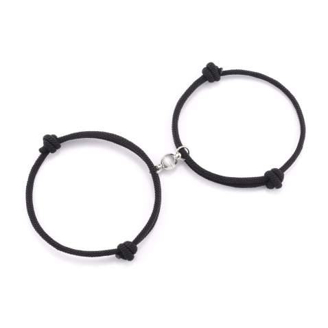 Couples Bracelets Magnetic Mutual Attraction Relationship Matching Braided Rope Bracelet Gift for Couples Women Men Lovers Boyfriend Girlfriend Him Her BFF