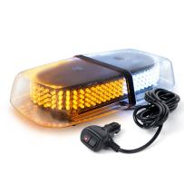 Xprite Amber White 240 LED Warning Strobe Beacon Light w/Magnetic Base for Emergency Vehicles Trucks Cars Snowplow Safety