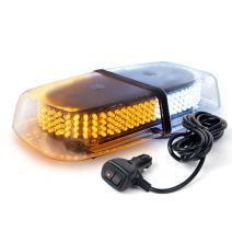 Xprite Amber White 240 LED Warning Strobe Beacon Light w/Magnetic Base for Emergency Vehicles Trucks Cars Snowplow Safety