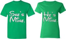 He is Mine & She is Mine - Matching Couple Shirts - His and Her T-Shirts - Tees