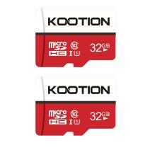 KOOTION 32GB Micro SD Card 2-Pack Class 10 Micro SDHC Card UHS-I Memory Card Ultra High Speed TF Card, C10, U1, 32 GB