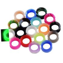 Oyaface 76pcs/36Pcs Silicone Ear Gauges Flesh Tunnels Plugs Stretchers Expander Ear Piercing Jewelry 2g-3/4 Mixed Color Set