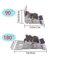 Btibpse Steel Folding Legs 180° Folding Lock Extension Table Bed Leg Feet 4 Pcs