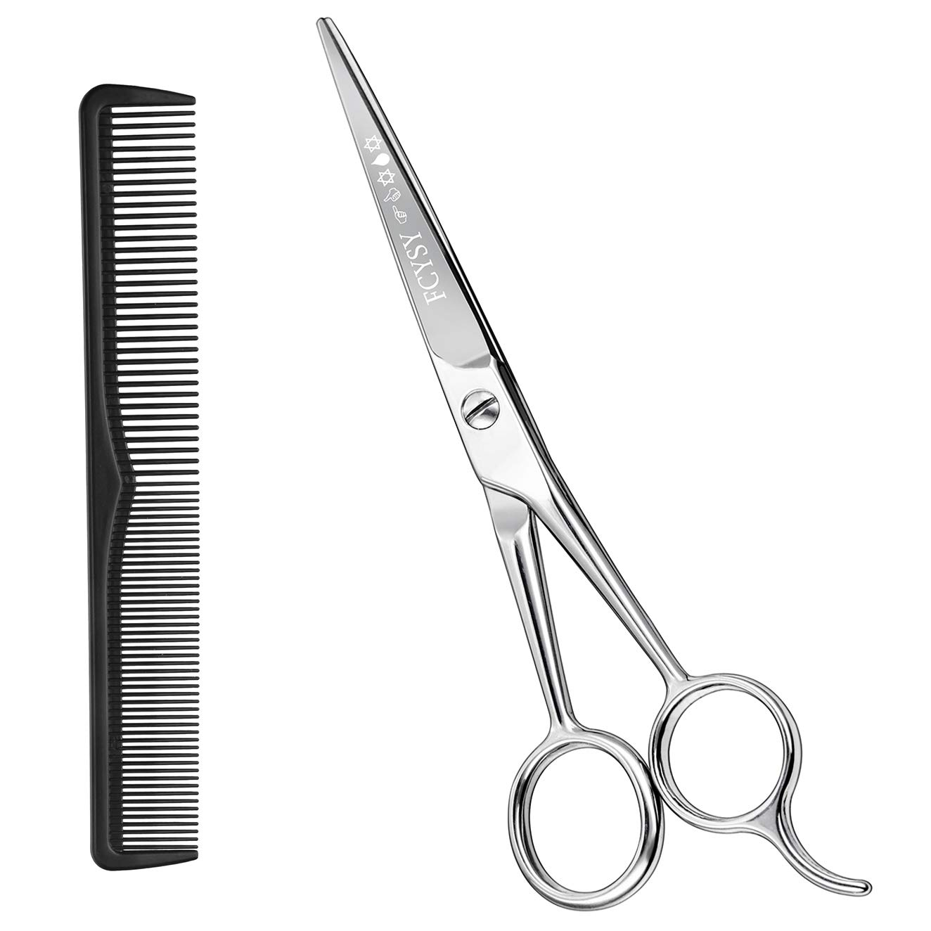 """Hair Cutting Scissors Hair Shears- Fcysy 6""""Professional Barber Sharp Hair Scissors Hairdressing Shears Sizzors Sheers Scissors Hair Comb Included for Women Men"""