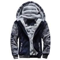 Men's Fleece Jackets Hoodies Thick Coats Wool Warm Hooded Sweatshirt Winter Pullover
