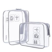 Anrui Clear Toiletry Bag TSA Approved Travel Airport Airline Compliant Bag Quart Sized 3-1-2 Kit Travel Pouch