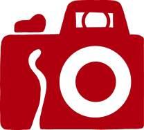 hBARSCI Camera Vinyl Decal - 11 Inches - for Walls, Windows, Doors, Vehicles, Outdoor-Grade 2.5mil Thick Vinyl - Red