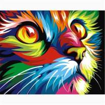 DIY 5D Diamond Painting by Number Kits for Adults Full Round Drill,Embroidery Rhinestone Painting Craft Rainbow Cat 15.7x11.8in 1 Pack by Witfox