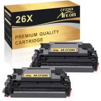 Arcon Compatible Toner Cartridge Replacement for HP 26X CF226X 26A CF226A M402n M426fdw HP Laserjet Pro M402n M402dn M402dw MFP M426fdw M426fdn M426dw Toner Printer HP 26A CF226A 26X CF226X (2-Pack )