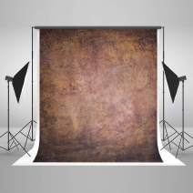 5ft(W) x7ft(H) Brown Texture Portrait Photography Backdrop Microfiber Absract Photo Studio Background for Photographers Head Shots Old Master Photo Props