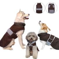 Reflective Dog Coat with a Detachable Hood for Small Medium Large Dogs, Warm Winter Dog Jacket Windproof, Soft Fleece Lining Dog Vest, Cozy Pet Aparel Clothes, Cold Weather Outdoor Costume Snowsuit