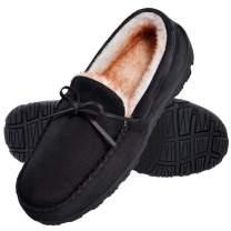 Shoeslocker Men's Warm Comfortable Plush Slippers