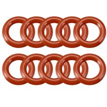 uxcell Silicone O-Ring, 15mm Outside Diameter, 8.8mm Inner Diameter, 3.1mm Width, VMQ Seal Rings Sealing Gasket Red, 10PCS