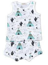 AYIYO Summer Baby Fruit Printed Cotton Tank Tops Tee Shirts + Shorts Harem Pants Set