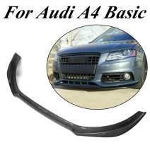 JC SPORTLINE fits for Audi A4 B8 Base Bumper 2009-2012 Front Chin Spoiler(Non for Sline & S4)(Carbon Fiber)