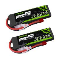 Ovonic 2 Packs 2200mAh 2S 7.4V 50C LiPo Battery Pack with T Plug for RC Evader BX Car RC Truck RC Truggy RC Airplane UAV Drone FPV