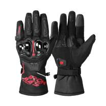 Motorcycle Gloves Winter Warm Waterproof Windproof Protective Clothing Touch Screen RED XL