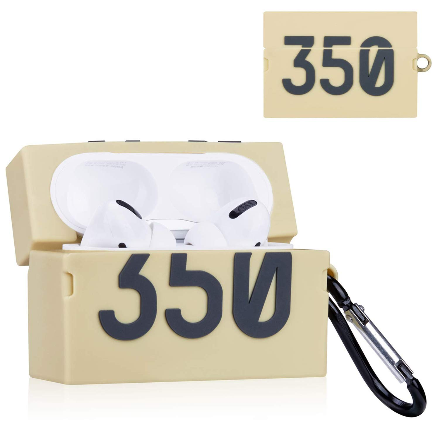 Gift-Hero for Airpods Pro/3 Case Soft Silicone, Cute 3D Luxury Funny Air pods Cover Stylish Sports Design Shockproof Protective Carabiner Skin Cases for Men Boys Teens Airpod 3 (350 Box)