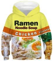 HelloTem Kids 3D Cartoon Printed Hoodies Teen Boys' Cute Galaxy Hooded Sweatshirts 4-13Y