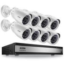 ZOSI Home Security Camera System 16 Channel,1080p Lite CCTV DVR Recorder and 8 x 720p Weatherproof Home Surveillance Bullet Camera Outdoor Indoor with Night Vision (No Hard Drive)