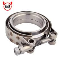 EVIL ENERGY 2 Inch Stainless Steel Exhaust V Band Clamp Male Female Flange