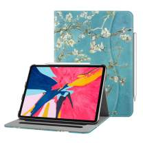 """Fintie Case for iPad Pro 11"""" 2018 [Supports 2nd Gen Pencil Charging Mode] - Multi Angle Viewing Folio Cover with Pocket [Secure Pencil Holder] Auto Sleep/Wake for iPad Pro 11 2018, Blossom"""
