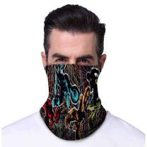 Sun-UV Protection Bandana Breathable Balaclava - Cover Scarf Dust Wind Headwear for Fishing Hiking Cycling (TJ40B-1)