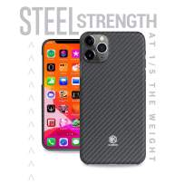 Evutec Karbon Value Case Compatible with iPhone 11 Pro 5.8 inch, Thin 0.7mm Slim Light Smooth Real Aramid Fiber Protective Phone Case Scratch Resistant Durable Cover - Black
