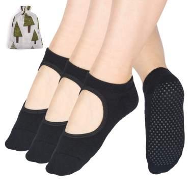 Women Non Slip Gloves Dance Ballet Socks Set for Yoga Pilates Dancing Fitness