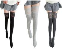 Toptim Women Girls Over the Knee Thigh High Stockings Lace Cosplay Socks