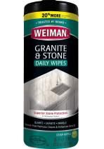 Weiman Granite Cleaner and Polish - 30 Wipes - For Granite Marble Soapstone Quartz Quartzite Slate Limestone Corian Laminate Tile Countertop and More