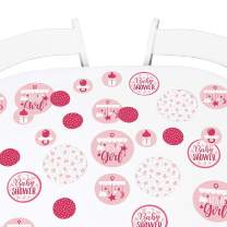 Big Dot of Happiness It's a Girl - Pink Baby Shower Giant Circle Confetti - Party Decorations - Large Confetti 27 Count