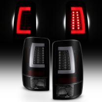 For Black Smoked 00-06 GMC Yukon XL 1500/2500 Chevy Suburban Tahoe LED Bar Tail Brake Lights Left+Right
