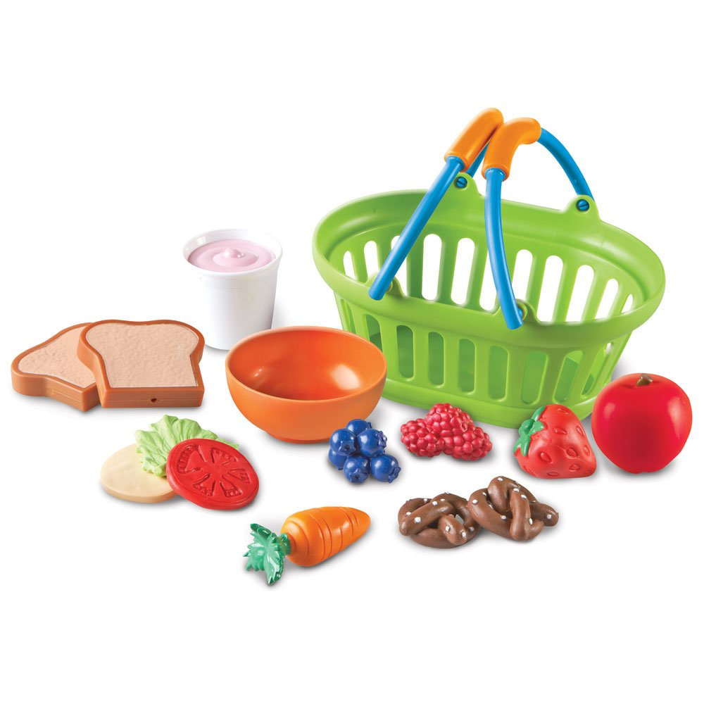 Learning Resources New Sprouts Healthy Lunch Toddler Pretend Play Food Set, Outdoor Toys, Pretend Picnic, 15 Pieces, Ages 2+