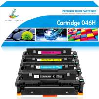 True Image Compatible Toner Cartridge Replacement for CRG-046H Canon 046H Color ImageCLASS MF733Cdw MF731Cdw MF735Cdw LBP654Cdw MF731 MF733 Printer Ink (Black Cyan Yellow Magenta, 4-Pack)