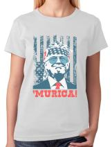 Donald Trump Murica Patriotic American Party 4th of July USA Women T-Shirt