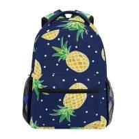 Pot Dot Pineapple Girls Backpacks for Elementary School Cute Bookbag for Kids