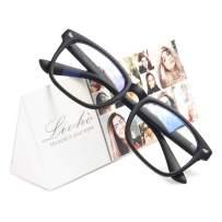 Livhò Blue Light Blocking Computer Glasses, Tablet Reading/Gaming/TV/Phones Glasses for Women Men, Anti Eyestrain Filter UV Glare & Reduce Headache Eyewear Fake Glasses (Matte Black)