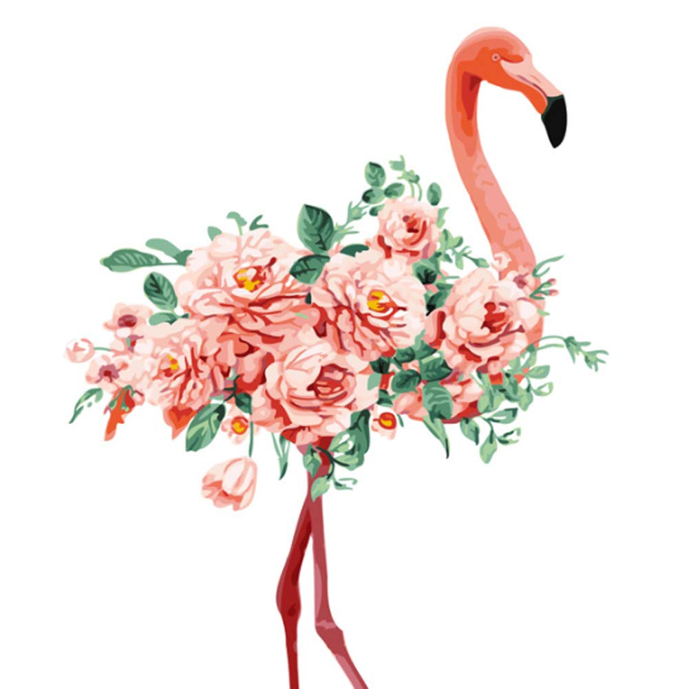Flamingo Diamond Painting Full Drill Painting Arts Craft Diamond Number Painting 15.7x11.8inch