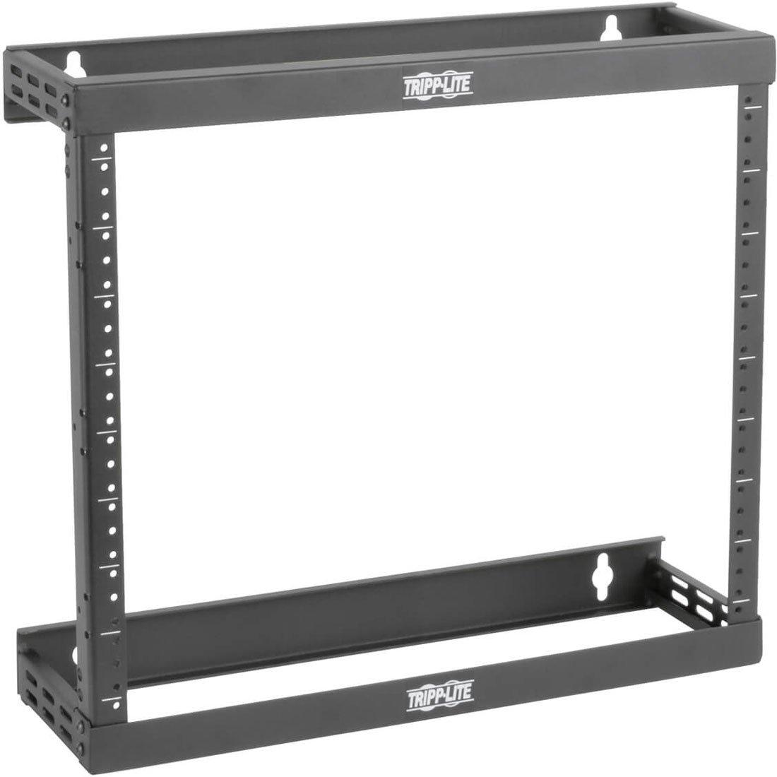 "Tripp Lite 8U/12U/22U Expandable Wall-Mount 2-Post Open Frame Rack, Adjustable Network Equipment Rack, Patch Depth, 5.75"" Deep (SRWO8U22SD),Black"