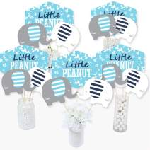 Blue Elephant - Boy Baby Shower or Birthday Party Centerpiece Sticks - Table Toppers - Set of 15