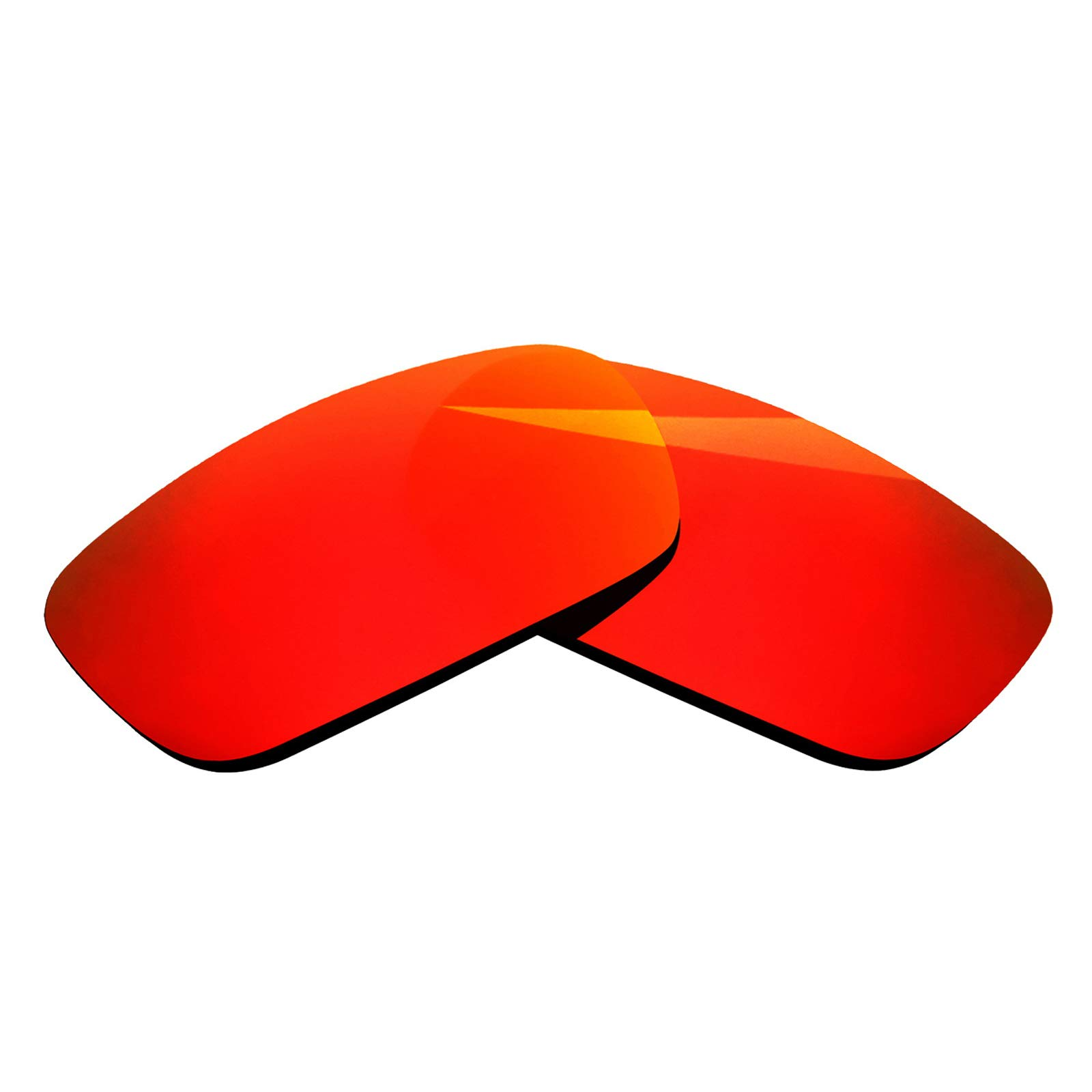 BlazerBuck Polycarbonate Polarized Replacement Lenses for Oakley Crankshaft OO9239 - Fire Red AR Coated