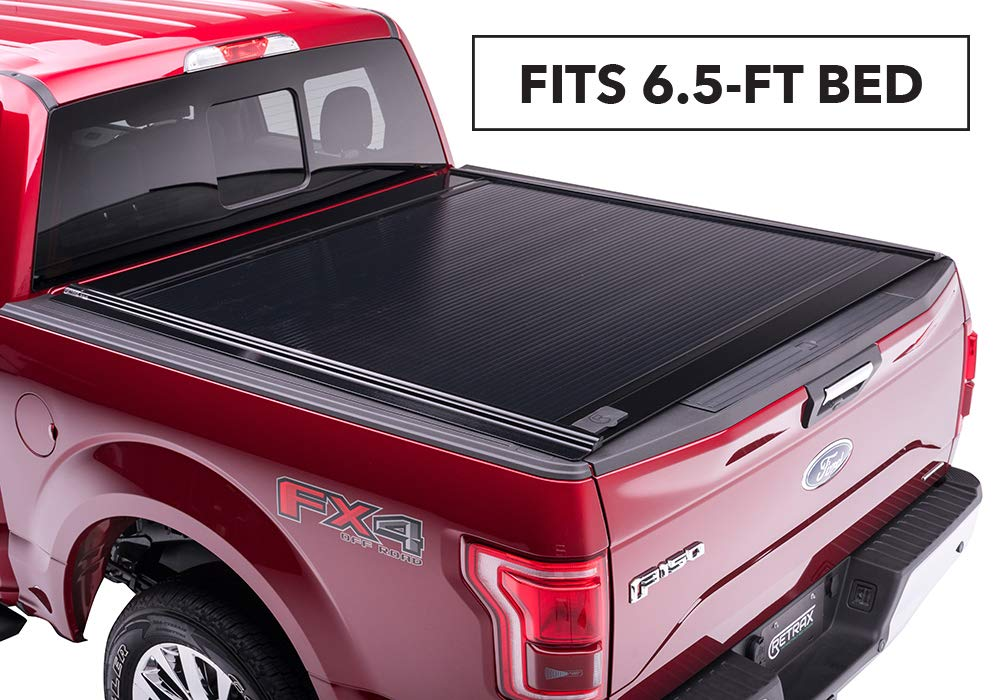 PowertraxONE Retractable Truck Bed Tonneau Cover | 20472 | fits Chevy & GMC 6.5' Bed (14-18), 1500 Legacy/Limited (2019) & 2500/3500 (15-19) Wide RETRAX Rail