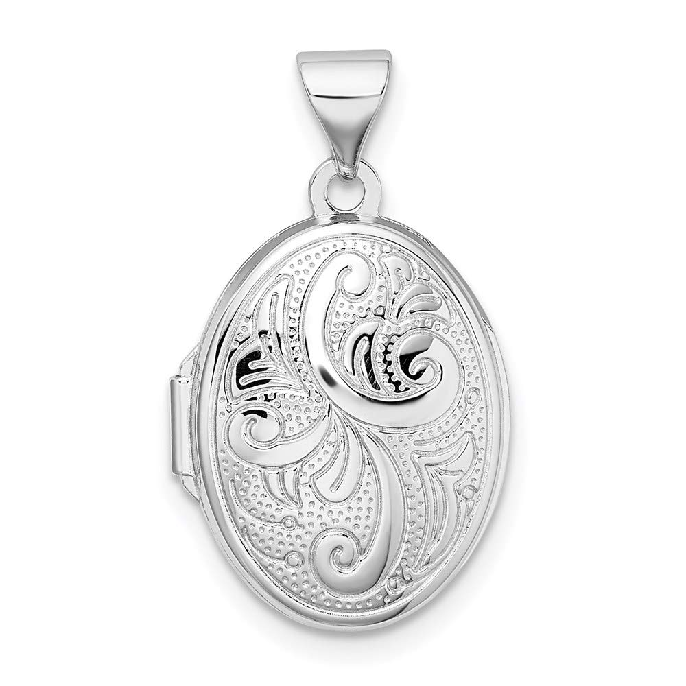 925 Sterling Silver Oval Photo Pendant Charm Locket Chain Necklace That Holds Pictures Fine Jewelry For Women Gifts For Her