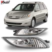 Winjet Compatible with [2006 2007 2008 2009 2010 Toyota Sienna] Driving LED Fog Lights + Switch + Wiring Kit