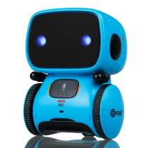 Contixo R1 Learning Educational Kids Robot Toy| Talking Speech Recognition Recording and Voice Controlled Interactive Touch Sensor Smart Robotics with Singing, Dancing, Gift for Kids Age 3+ (Blue)