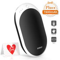 Jomst New 7800mAh Rechargeable Hand Warmers Portable Electric Power Bank,Larger Capacity Hand Warmer and Double-Sided Heating