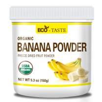Organic Banana Fruit Powder, 150g (5.3 oz), 100% Raw, Vegan, No Fillers, Non-GMO