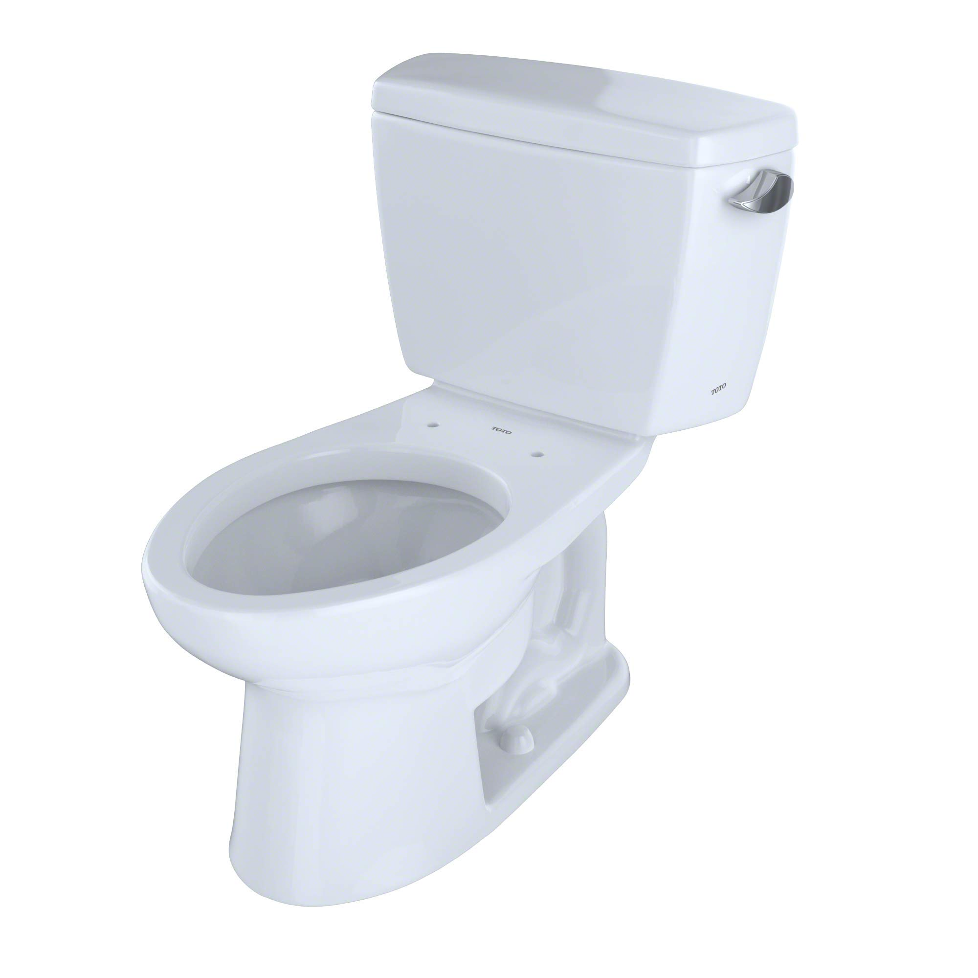 TOTO CST744SLR#01 Drake 2-Piece Ada Toilet with Elongated Bowl and Right Hand Trip Lever, Cotton White